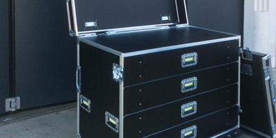 Trizio Flight Case professionali di diverse dimensioni e caratteristiche per uso generico. Tutti i prodotti sono made in Italy e garantiti per 3 anni.
